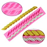 Mujiang Fritters Twist Rope Silicone Lace Sugarcraft Fondant Cake Decorating Molds