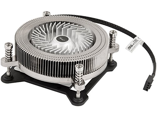 (CPU Cooler 1U Low Profile CPU Cooling Fan Full Copper & Aluminum Structure 60 mm PWM Fan & 4-Pin Connector, Slim 27mm Height Saves Internal Space 13dBA Silent Noise Level High End 2 Ball Bearing )