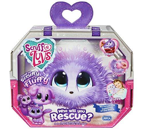 Scruff-a-Luvs Purple Rescue Toy Pet Dog, Cat or Rabbit Worlds Apart