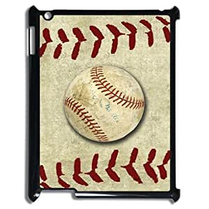 Ipad 4 Case,Vintage Baseball & Retro Baseball Surface High Definition Wonderful Design Cover With Hign Quality Hard Plastic Protection Case