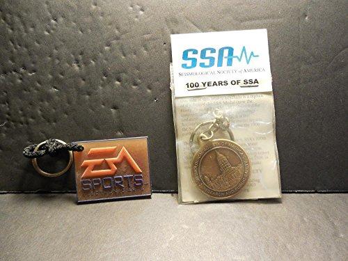 (2 Vintage Key Chains Seismological Society Of America; Sports Elec Arts)