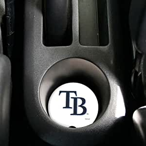 MLB Tampa Bay Rays 2-Pack Absorbent Car Coasters