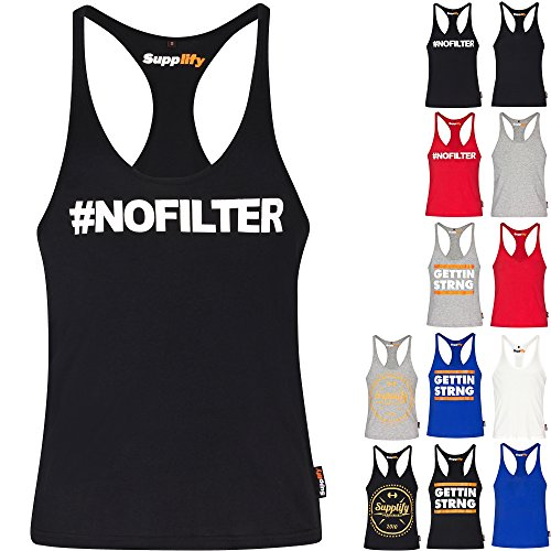 Fitness Gym Stringer Muscle Tank Top – Men's Sleeveless Gym Vest – 100 % Organic Cotton – Lift in Style with Supplify