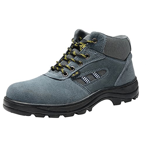 Industrial Steel Eclimb Toe Blue Shoe Men Mid Boot Color Resistant Safety Hiking Xggw0Aqa