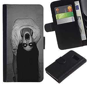 iBinBang / Flip Funda de Cuero Case Cover - Demon Possessed Witch Spooky - Samsung Galaxy S6 SM-G920