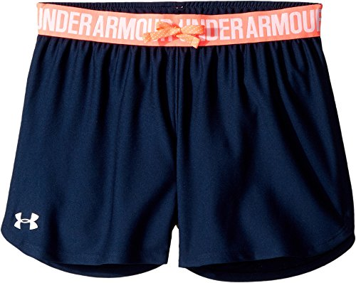 Under Armour Kids Girl's Play Up Shorts (Big Kids) Academy/Brilliance Medium
