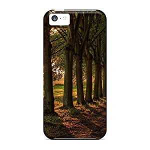 SKRNgLa5248jUpDC Henrydwd Awesome Case Cover Compatible With Iphone 5c - Gorgeous Avenue Of Trees