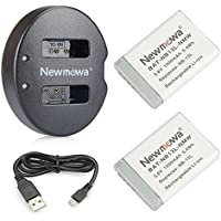 NB-13L Newmowa Battery (2 pack) and Dual USB Charger for Canon NB-13L and PowerShot G5X ,PowerShot G7X,PowerShot G9X