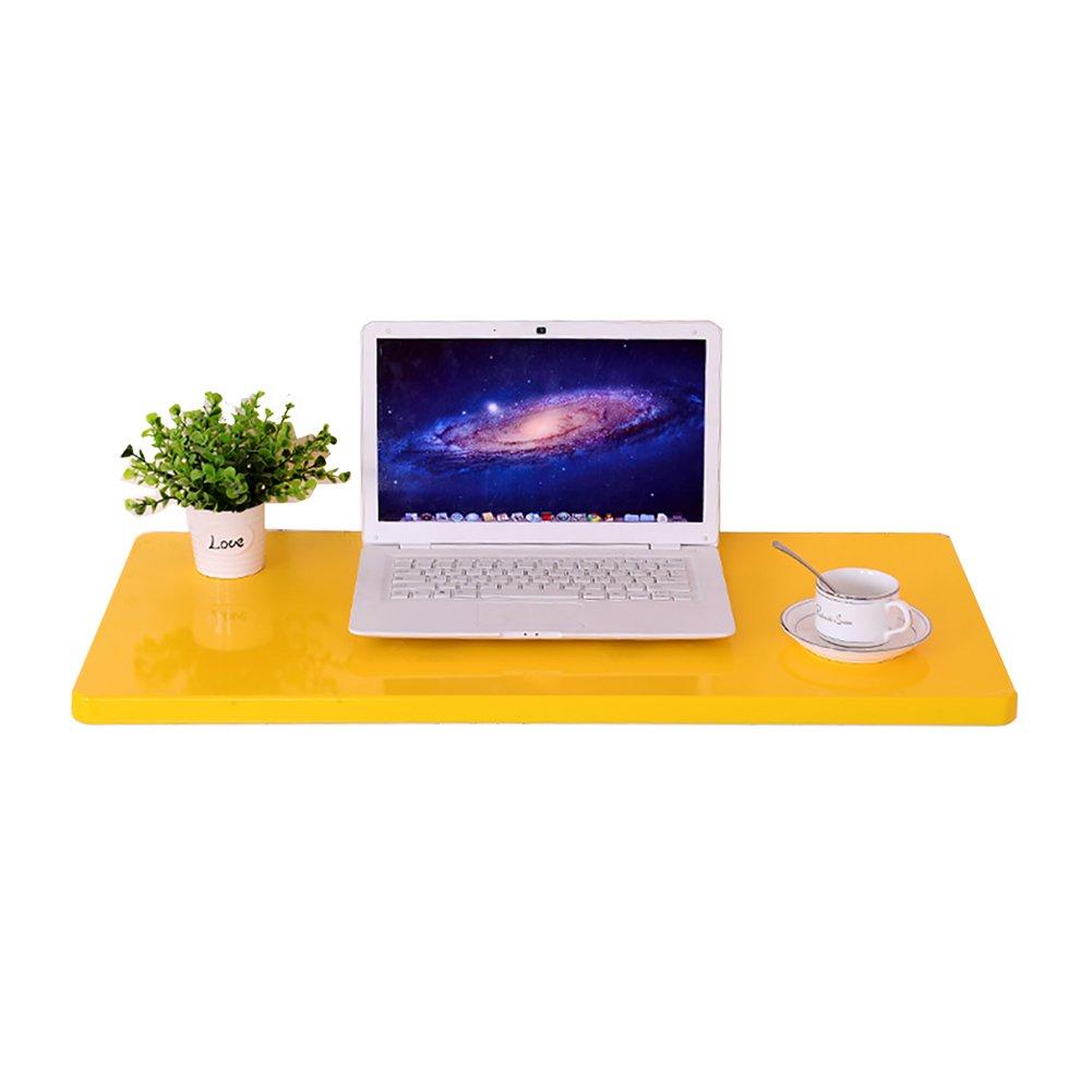 LXLAベッドルーム折りたたみ壁テーブル壁掛けキッチンダイニングデスクドロップリーフコンピュータ学習ワークステーション子供オーガナイザーイエロー (サイズ さいず : 120×40cm) B07DVBYL9C 120×40cm 120×40cm