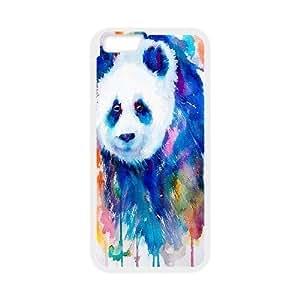 Panda Case Cover For Apple Iphone 5C Watercolour Painting Panda Animal, Mens Designer Panda, {White}