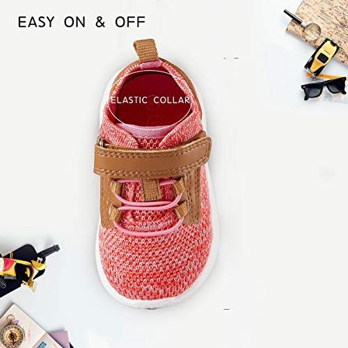 CRTARTU Baby Shoes Boys Girls Sneakers Toddler Shoes Flexible to 0-5 Years Old, Running Shoes Anti Slip Walking Shoes, 4 Colors Option
