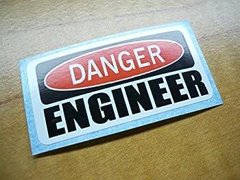 Danger - Engineer Hard Hat Sticker / Decal / Label Tool Lunch Box Helmet Funny