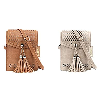 Women Small Crossbody Bag, seOSTO Tassel Messenger Bag Cell Phone Purse Walle