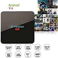Hindotech Android 7.1 R-TV BOX Pro 3GB DDR4 32GB eMMC Amlogic S912 4K 60FPS TV BOX 2.4G/5G WIFI Bluetooth 1000M LAN DLNA Miracast