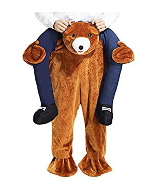 Carry Me Teddy Bear Mens Costume Size OS
