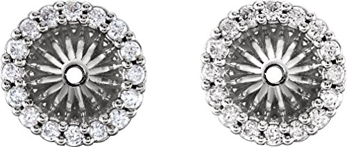 Platinum Diamond Cluster Earring Jackets (5.1 MM) (0.16 Ctw, G-H Color, SI2-SI3 Clarity) (Diamond Platinum Jackets Earring)