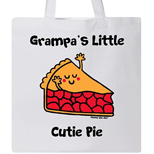 Inktastic - Grampa's little Cutie Pie Tote Bag White - Flossy And Jim
