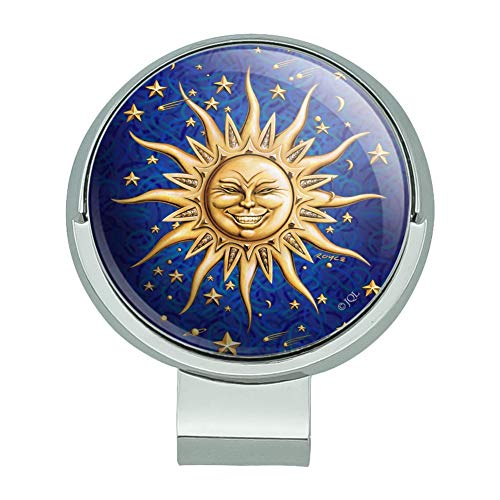 GRAPHICS & MORE Celestial Suns Moon Shooting Stars Golf Hat Clip with Magnetic Ball - Golf Moon