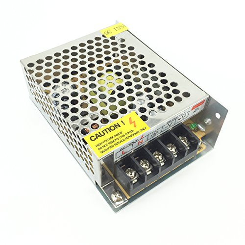 Pasow AC 110V/220V to DC 5V 5A 25W LED Strip Light Switching Power Supply Transformer Converter (5V, 5A)