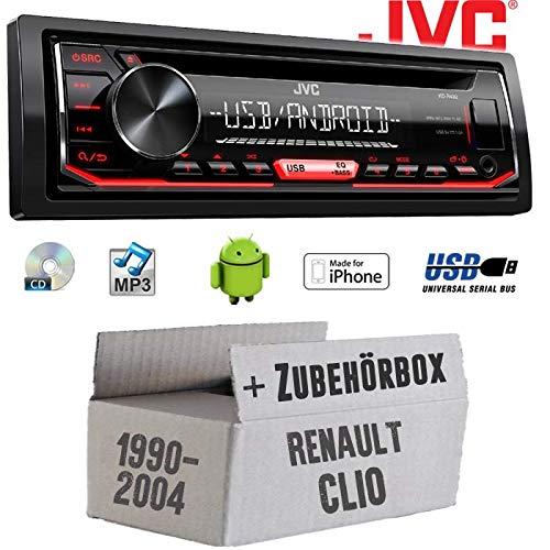MP3 iPhone Einbauset f/ür Renault Clio 1 +2 JUST SOUND best choice for caraudio Autoradio Radio JVC KD-R492 CD Einbauzubeh/ör Android USB