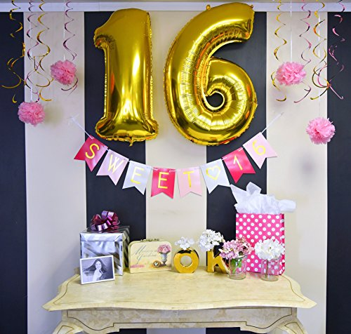 amazon sweet 16 birthday banner sweet sixteen decorations party