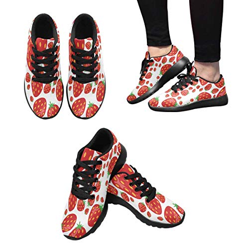 7 Design Athletic Red InterestPrint Running Women's Strawberry Shoes fwxaTq