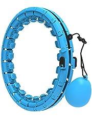 reakoo Smart Gewogen Hula Fitness Hoops voor Volwassenen en Kinderen Oefening 24 Afneembare Knopen Verstelbare Maat 2 in 1 Buik Fitness Hula Oefening Hoops