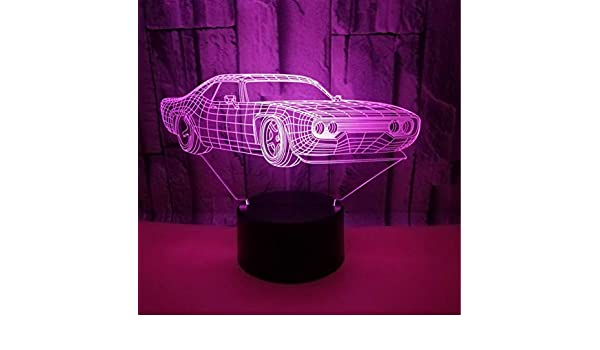 Cena De Luz Nocturna 3D Coche Ferrari Lámpara De Mesa 7 Colores ...