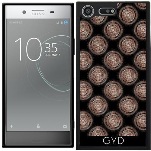 Funda Silicona para Sony Xperia XZ Premium - Subió El Modelo De Puntos Negro De Oro by Nina Baydur
