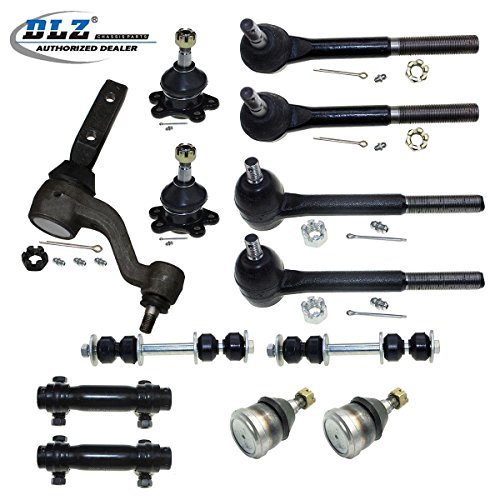 (DLZ 13 Pcs Front Suspension Kit-Lower Upper Ball Joint Inner Outer Tie Rod End Tie Rod Adjusting Sleeve Sway Bar Idler Arm Compatible with 1988 1989 1990 1991 1992 Chevrolet GMC C1500 C2500)