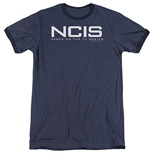 Sons of Gotham NCIS - Logo Adult Ringer T- Shirt XL