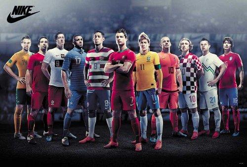 O-6816 All Star Football- Cristiano Ronaldo, Neymar, Wesley Sneijder- 2013 -Soccer Football Poster Size 24