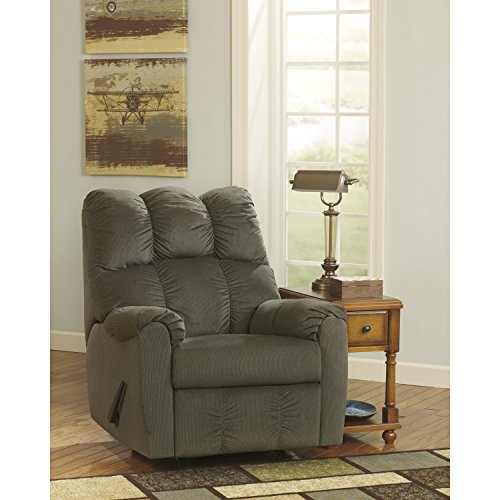 Recliner Rocker Signature (Flash Furniture Signature Design by Ashley Raulo Rocker Recliner in Moss Fabric)