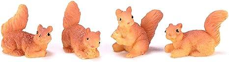 Cute Squirrel Miniature Figurine Fairy Garden Dollhouse Decor Micro Landscape!ST