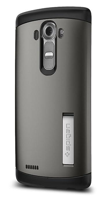 54 opinioni per Custodia LG G4, Spigen [Protezione Dual-Layer] Slim Armor [Gunmetal]