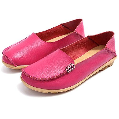 Comfity Skor För Kvinnor Kvinna Flats Mockasiner Loafers Slip-on Flat Walking Rosa
