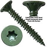 """#8 x 1-1/4"""" Cement Board Torx/Star Head Screws"""