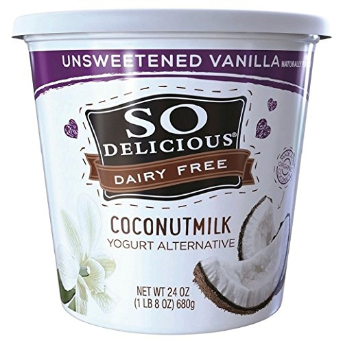 So Delicious Dairy Free Coconut Milk Yogurt, Unsweetened Vanilla, 24 Ounce (Pack of 6)