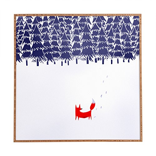 "Deny Designs Robert Farkas, Alone in The Forest, Framed Wall Art, Small, 12""x 12"""