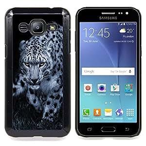 Leopard Black White Animal Nature Hint Caja protectora de pl??stico duro Dise?¡Àado King Case For Samsung Galaxy J2