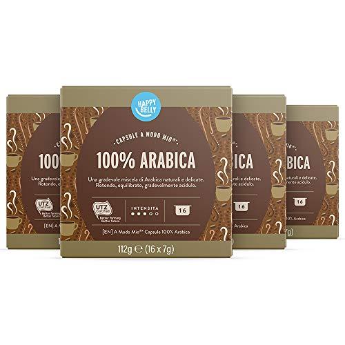 Marchio Amazon - Happy Belly Capsule A Modo Mio 100% Arabica, 64 Capsule (4 x 16)
