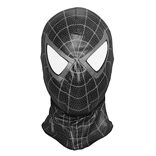 ng Venom Mask Costume Cosplay Hood Adult (Black) (Spider Man Prop)