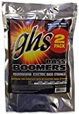GHS Strings M3045-2, 4-String Bass Boomers, Nickel-Plated Electric Bass Strings, Long Scale, Medium, 2 Pack (.045-.105)