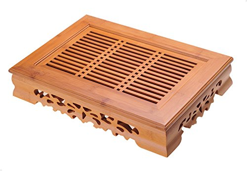 Buy YEME Chinese Bamboo Gongfu Tea Table Serving Tray