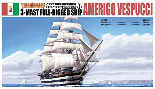 Amerigo Vespucci Model - Aoshima Amerigo Vespucci Sailing Ship