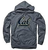 UC Berkeley Cal Script 2 Color Navy In Gold Out Hoodie Sweatshirt-Charcoal