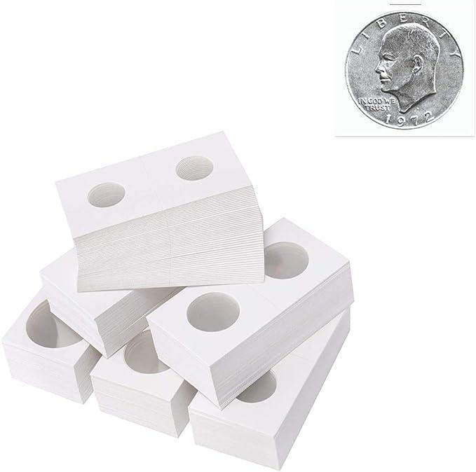 Toyvian 300pcs Cartones Monederos para Monedas Monederos para Suministros de colección de Monedas (17.5mm + 20.5mm + 23mm + 25mm + 26.5mm + 27.5mm): Amazon.es: Juguetes y juegos