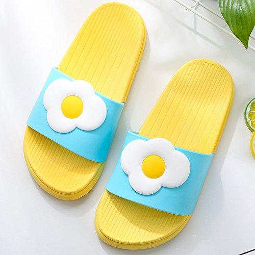 di le Frutto e 37 uova coppie uomini cool home anti estate bellissimo indoor pantofole per un donne bagno fankou cartoon con pantofole soggiorno scivolo 5S4nzqz