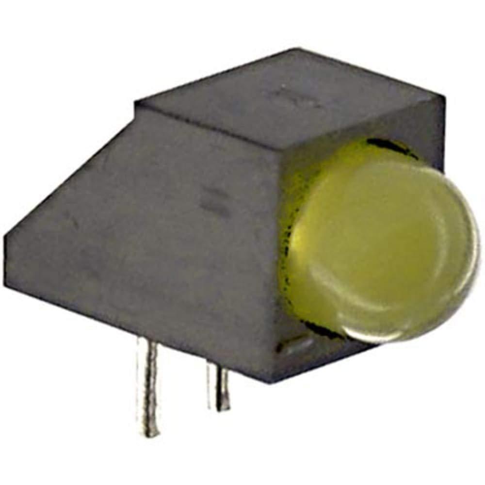 Indicator; LED; PCB Thru-Hole; Bulb T-1 3/4; Yellow; Yellow; Diffused; Round; 60deg - Pack of 100