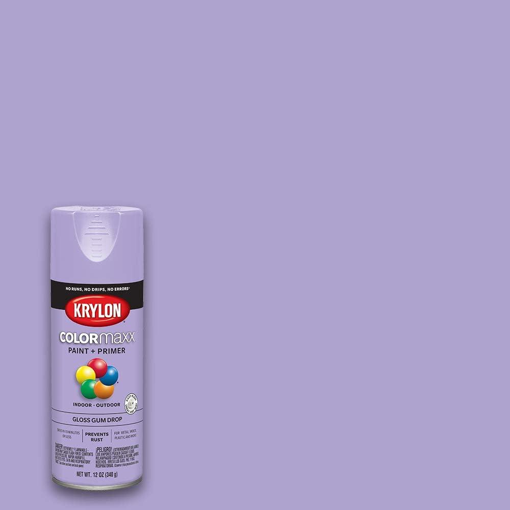 Krylon K05521007 COLORmaxx Spray Paint, Aerosol, Gum Drop